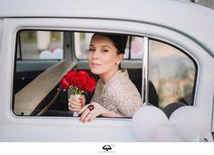 Bride retro car
