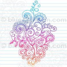 Hand-Drawn Sketchy Notebook Doodle Abstract Paisley Vector Illustration by blue67 by blue67design, via Flickr