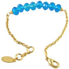 I love this bracelet! Beautiful crystal beads and 24kt gold chain. alzerina.com