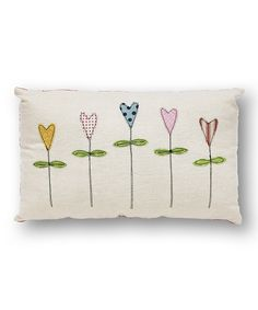 Love this White Flowers Pillow by Collins on #zulily! #zulilyfinds