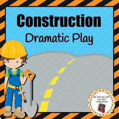 My Construction Dramatic Play set includes:*A list of ideas for you to add to your construction dramatic play area*Construction Site banner: each triangular pendant comes with one letter to spell 'construction site' or a picture (5 total)*8 road work signs (square signs measure approximately 7.5 x 7.5 inches and rectangular signs measure approximately 7.5 x 10 inches)*14 We Can Build!