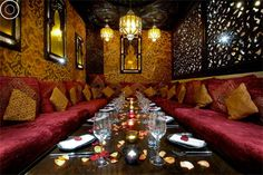 Kenza is my favourite Middle Eastern restaurant. Stunning decor, belly-dancing; great food and the mint-tea pouring will amaze you - all fabulous