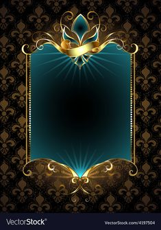 Buy Design with Fleur De Lis by on GraphicRiver. Rectangular turquoise banner decorated with Fleur de Lis with gold pattern on a dark AI, PSD and JP. Pixel Art Background, Banner Background Images, Background Images Wallpapers, Background Vintage, Dark Backgrounds, Gold Background, Wallpaper Space, Couple Wallpaper, Spongebob Painting