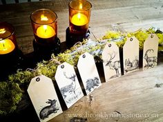 Free download for these stylish  Woodland Animal Tags from Brooklyn Limestone.