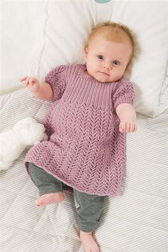 Lanett Baby 1113: Babykjole - Sandnes Garn