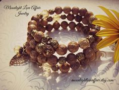 Jasper Bracelet, Gemstone  Bracelet, Boho Wrap Bracelet, Autumn Bracelet, Nature Inspired Jewelry by MoonlightLoveAffair on Etsy https://www.etsy.com/listing/202867008/jasper-bracelet-gemstone-bracelet-boho