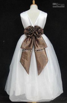 mermaid flower girl dress wedding pageant birthday satin Bridesmaid wasit belt romoveable for 2-10Y