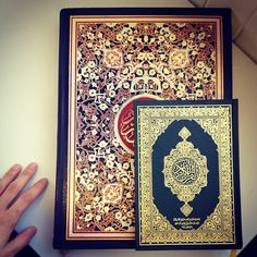 Two books of Quran with beautiful covers