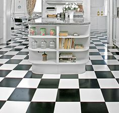Mix 1 cup of distilled white vinegar into 1 gallon of water and clean vinyl or linoleum floors--They'll shine!