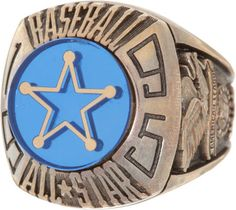 An All-Star Game ring from the 1995 All-Star Game, hosted by the Texas Rangers.