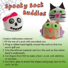 Spooky Sock Buddies Halloween Craft
