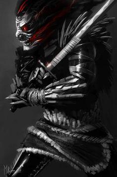 TENGU ASSASSIN, Phelan A. Davion on ArtStation at https://www.artstation.com/artwork/tengu-assassin
