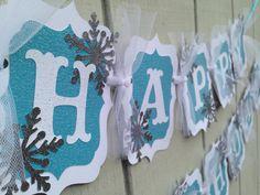 DIY Frozen birthday banner