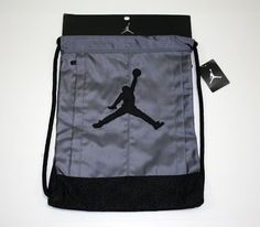 Air Jordan Nike Jumpman Drawstring Backpack Black/Gray Elephant Print #Nike #Backpack