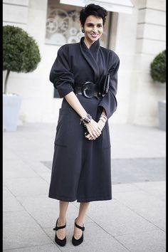 Street Style Paris Fashion Week: Farida Khelfa