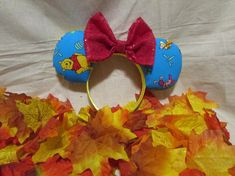 Winnie the Pooh Inspired Mouse Ears / Headband Mouse Ears Headband, Ear Headbands, Winnie The Pooh Ears, Disney Ears, Etsy Shop, Unique Jewelry, Handmade Gifts, Inspired, Cruise