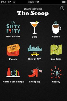 The New York Times: Mobile Design Pattern Gallery Web Design, Graphic Design, Flat Design, Mobile Design Patterns, A New York Minute, Empire State Of Mind, I Love Nyc, New York Travel, Ny Times