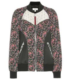 Multicolored Coach  bomber jacket  for woman Printed Silk Bomber Jacket By Coach #chaquetabomber #bómber #bombers