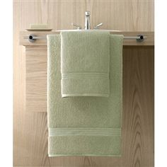 Kassa Design Egyptian Cotton Bath Towels are affordable and durable yet  incredibly plush, soft and absorbent.  Shown: Celery (Spring Green).  Collection starting at $5.95