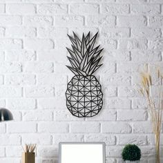 (Yeni) Metal Plaka - Pineapple