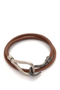 Vintage Hermes Leather Jumbo Bracelet