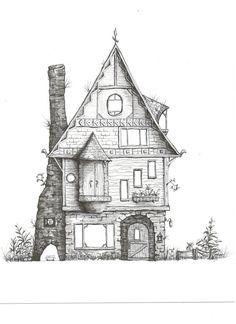 Fantasy Forest estroso casa stampa fine art 5 x di SideViewStudio, $27.00