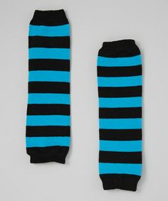 @Erin Billingsley ! Ruby could totally pull these off!! Loving this Black & Turquoise Stripe Leg Warmers - Toddler on #zulily! #zulilyfinds