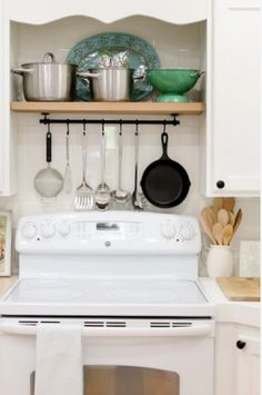 When you store your pots and cooking utensils above your stove top, everything you need is always at-hand. #home #kitchen http://www.guaranteethesale.com/