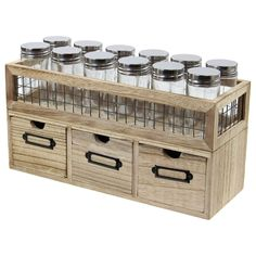 A stylish addition to any kitchen. Delightful freestanding wooden spice rack unit. Fill the 12 jars with your own favourite herbs and spices and get creative in the kitchen. Everyone has their own taste and this spice rack will hold plenty of flavours. | eBay!