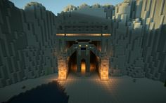 Minecraft Mountain Cave Gate