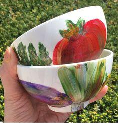 """""""Vegetable Garden"""" Summer Art Bowl Collection"""