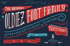 Oldiez Font Family + bonus by inumocca on Creative Market