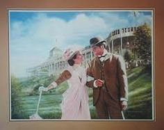 Movie ( Somewhere In Time )  starring Christofer Reeves and Jane Seymour . Grand Hotel Mac. Island MI