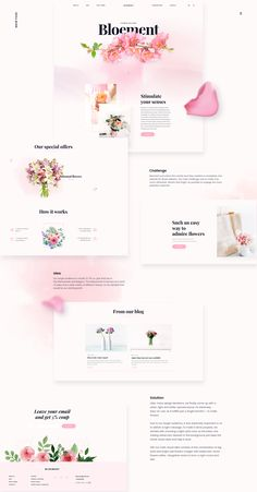 Bloement - Flowers Delivery E-commerce on Behance