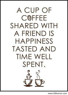 Saying about coffee