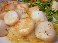 Pan Seared Scallops with Lemon Thyme Drizzle