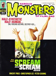 """Famous Monsters of Filmland - issue #90 - 1972 - """"Scream and Scream Again"""""""