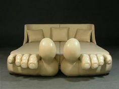 5) unique furniture - Frank Oelke, Bed 'Pedus'