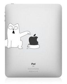 Simon's Cat iPad decal