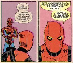 Spider-Man/Deadpool (2016-) #7 Deadpool Love, Deadpool 2016, Great Power, Fortune Cookie, The Hard Way, Rabbit Hole, Spiderman, Superhero, Fictional Characters