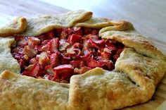 "Rhubarb ginger galette - I now need an ""occassion"" to justify making and eating this!"