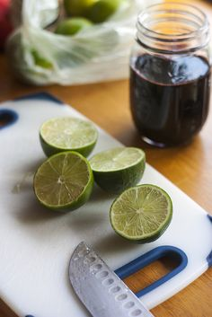 Cherry and Lime syrups for Cherry Lime Sodas.
