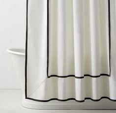 Framed Faille Shower Curtain