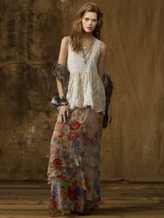 Ralph Lauren Denim & Supply Lace Cami🌸Boho Look Style Boho, Look Boho, Gypsy Style, Boho Gypsy, Hippie Style, My Style, Hippie Chic, Moda Hippie, Estilo Hippie