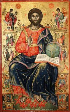 Byzantine Icons, Byzantine Art, Religious Icons, Religious Art, Christ Pantocrator, Pictures Of Jesus Christ, Religious Paintings, Icon Collection, Catholic Art