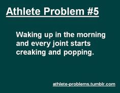 Not just in the morning though lol whenever I bend down to get something the same thing happens hip problems funny