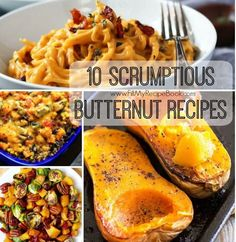 10 Scrumptious Butternut Recipes to add to meals as well as pasta and curry dishes, also a bread and a soup. Advertisement - Continue below // Roasted butternut squash soup recipe Cinnamon roasted butternut squash Creamy butternut squash alfredo pasta  Creamy butternut squash...