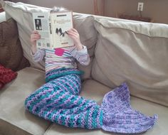 Crochet Mermaid Tail Snuggle Sack PATTERN by CrochetingwithClaire
