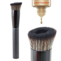 Large Perfecting Face Brush Premium Foundation Makeup Brush 1pc Angled * For more information, visit image link.