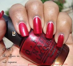 OPI An Affair in red square...